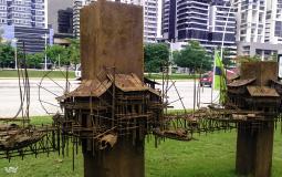 Непонятная декоративная штука на побережье нового Панама Сити