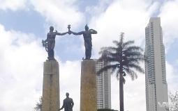 Необычный памятник-архитектурный ансамбль и появление нового Панама Сити на горизонте