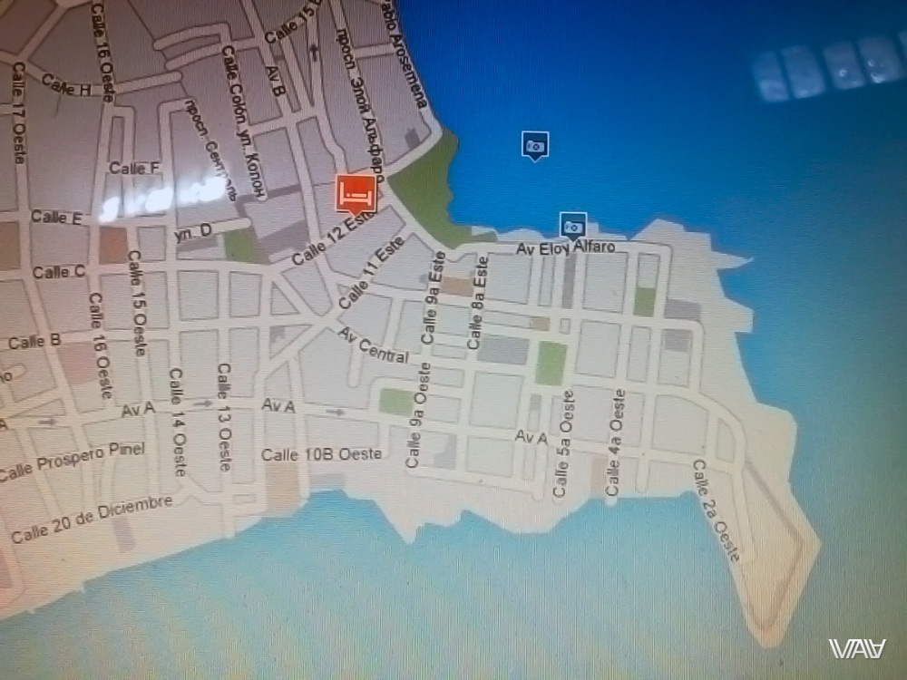 Map of the old city of Panama City and my hotel. Panama City, Panama
