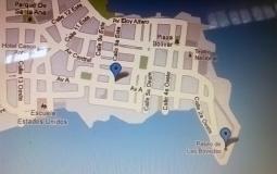 Карта старого города Панама Сити и какая-то достопримечательность по мнению Google