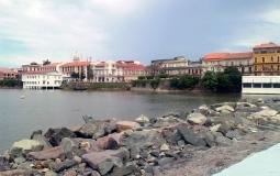Набережная Панама Сити с видом на старый город
