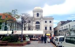 Здание колониальной эпохи и архитектуры старого города Панама Сити