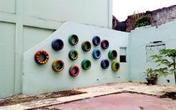 Необычная арт-стена старого города Панама Сити