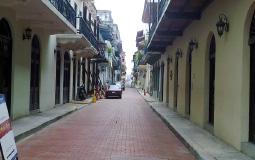 Чистая улица старого города Панама Сити