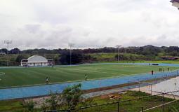 Вот так выглядит стадион учебного заведения. Не так уж и отличается от наших школ. В Панама Сити учителя аналогично раздражаются из-за ленивых подопечных)