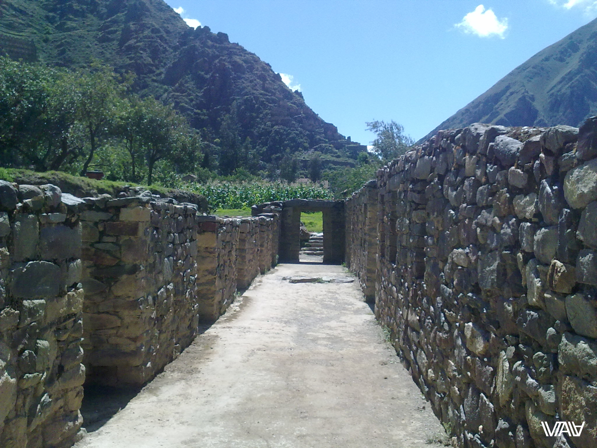 Sometime people walked along this corridor a thousand years older than us. Do the stones remember everything in the city of Oyantaytambo in Peru.