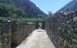 Sometime people walked along this corridor a thousand years older than us. Do the stones remember everything in the city of Ollantaytambo in Peru.