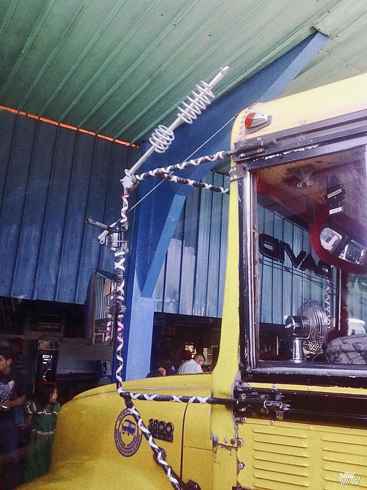 Такие автобусные антенны просто чудо творчества! Давид, Панама