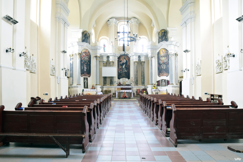 Внутреннее убранство костела Святого Михаила Архангела. Ивенец, Беларусь