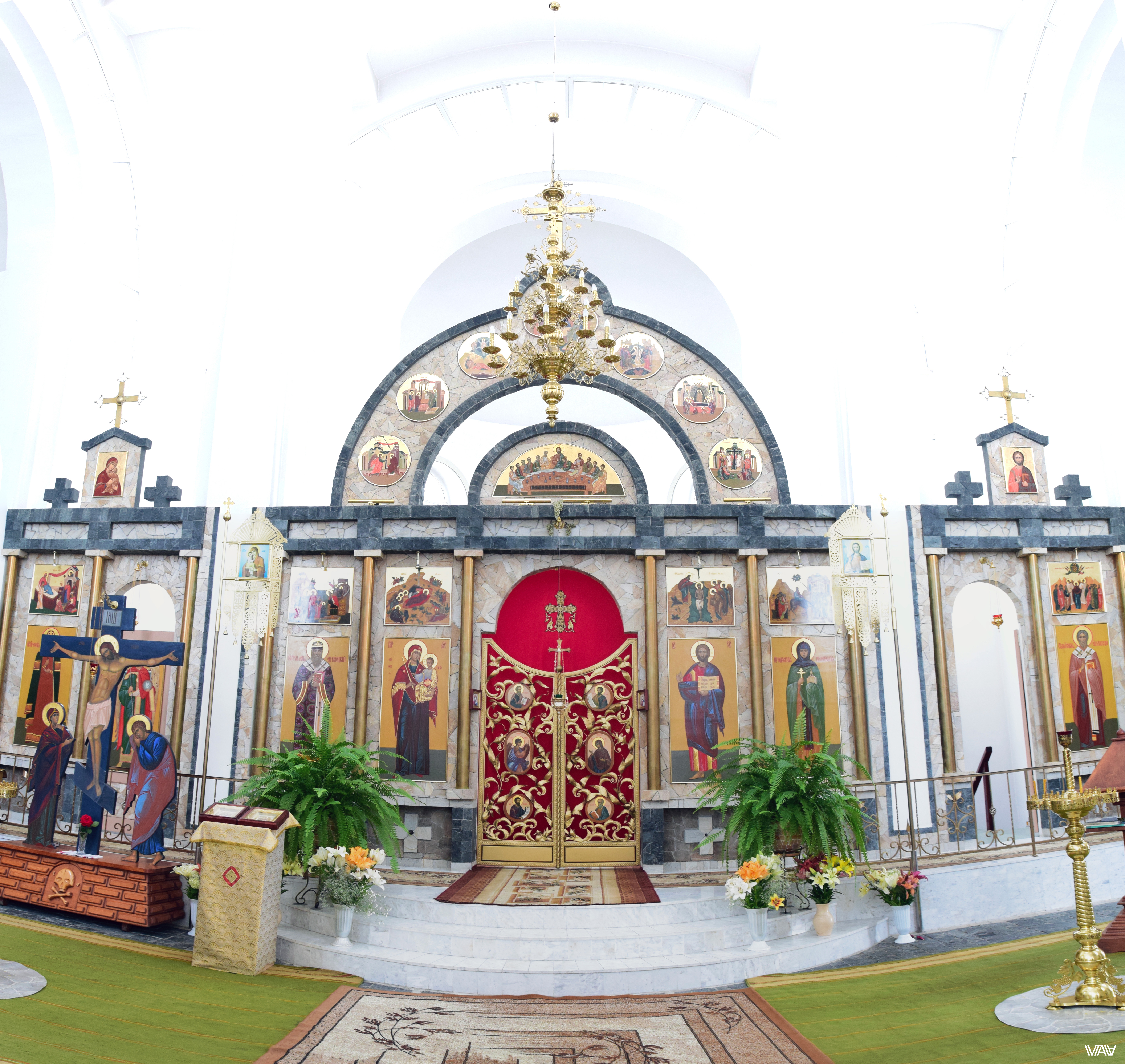 Altar and Icons of the church of Saint Efrosinya Polotskaya. Ivenets, Belarus