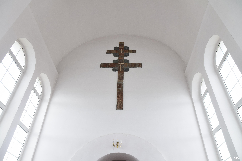 Ефросинья Полоцкая знаменита также своим пропавшим крестом. Это, к сожалению, не он. Церковь Святой Ефросиньи, Евенец, Беларусь