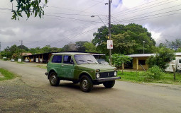 This is so strange to see Russian car in the other end of the world. Hot Springs, Panama