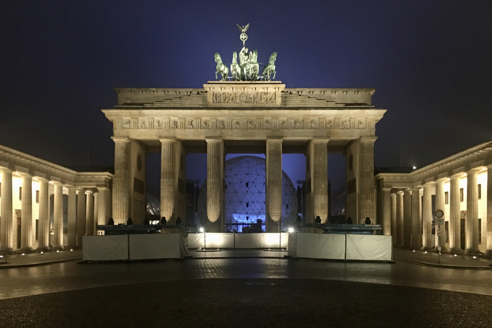 The Brandenburg Gates looks even more magnificent at night. Berlin, Germany