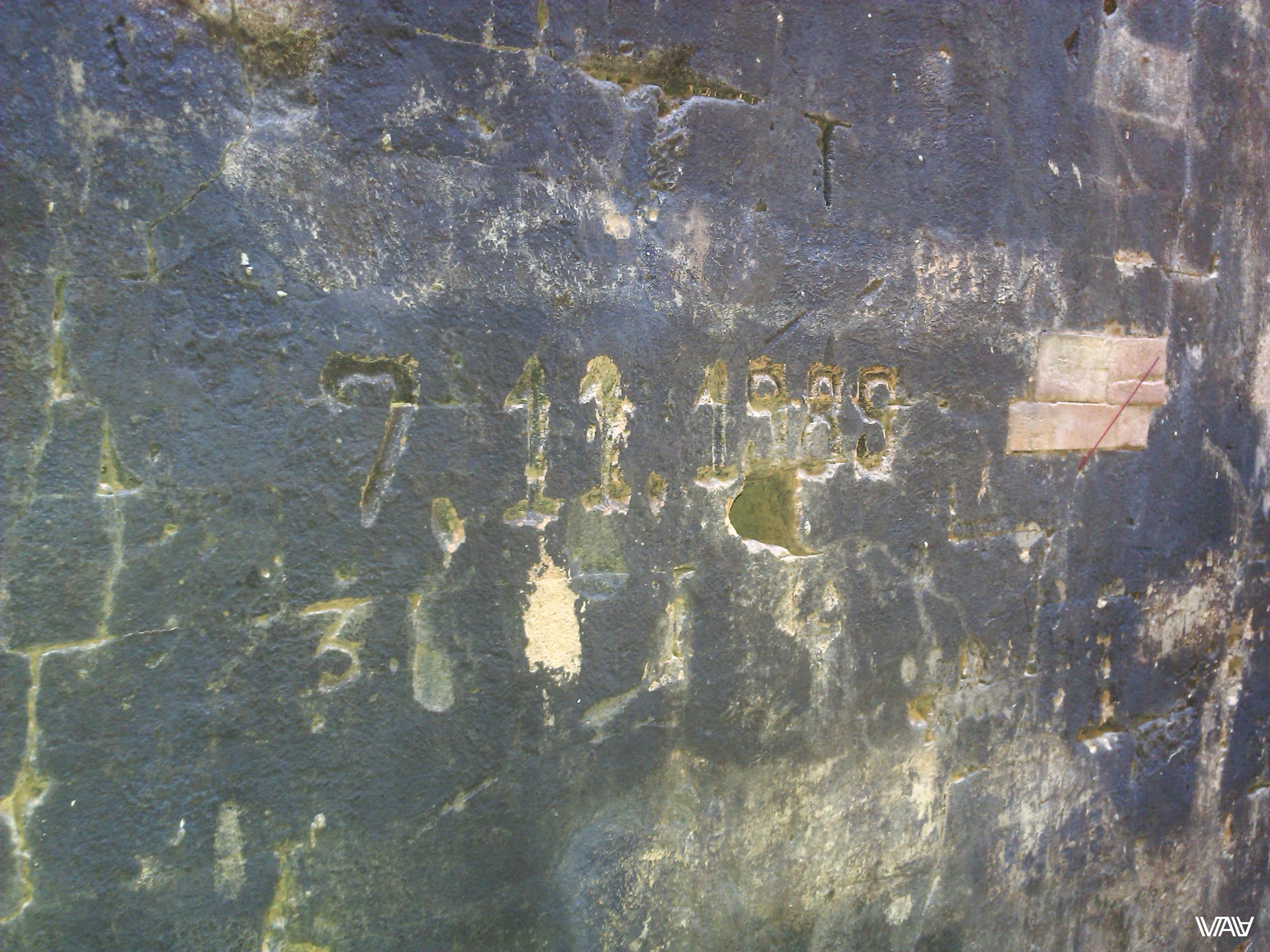 Полагаю, это дата реконструкции храма. А судя по старым фото, точнее будет сказать постройке с нуля. Прасат Краван, Ангкор, Камбоджа