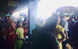 Beautiful local people at the bus station, David, Panama