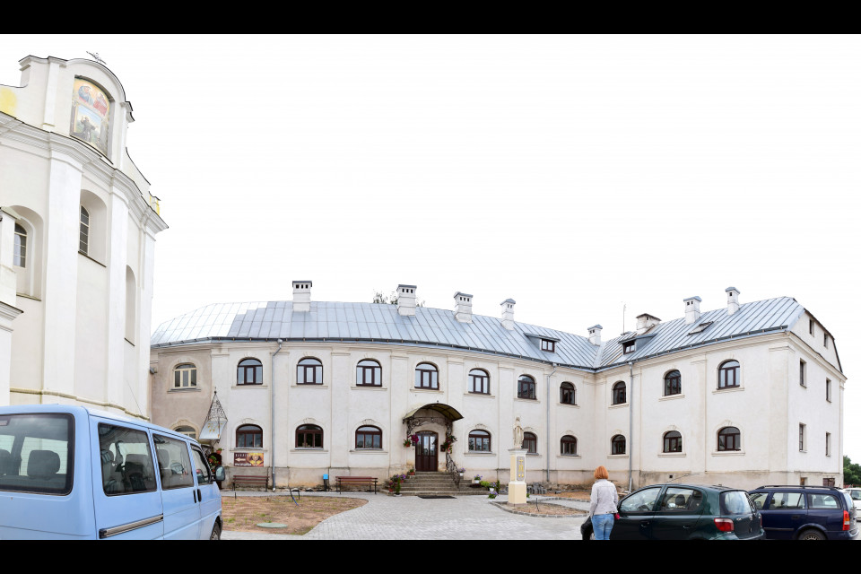 Панорама монастыря при костеле Святого Михаила Архангела. Ивенец, Беларусь