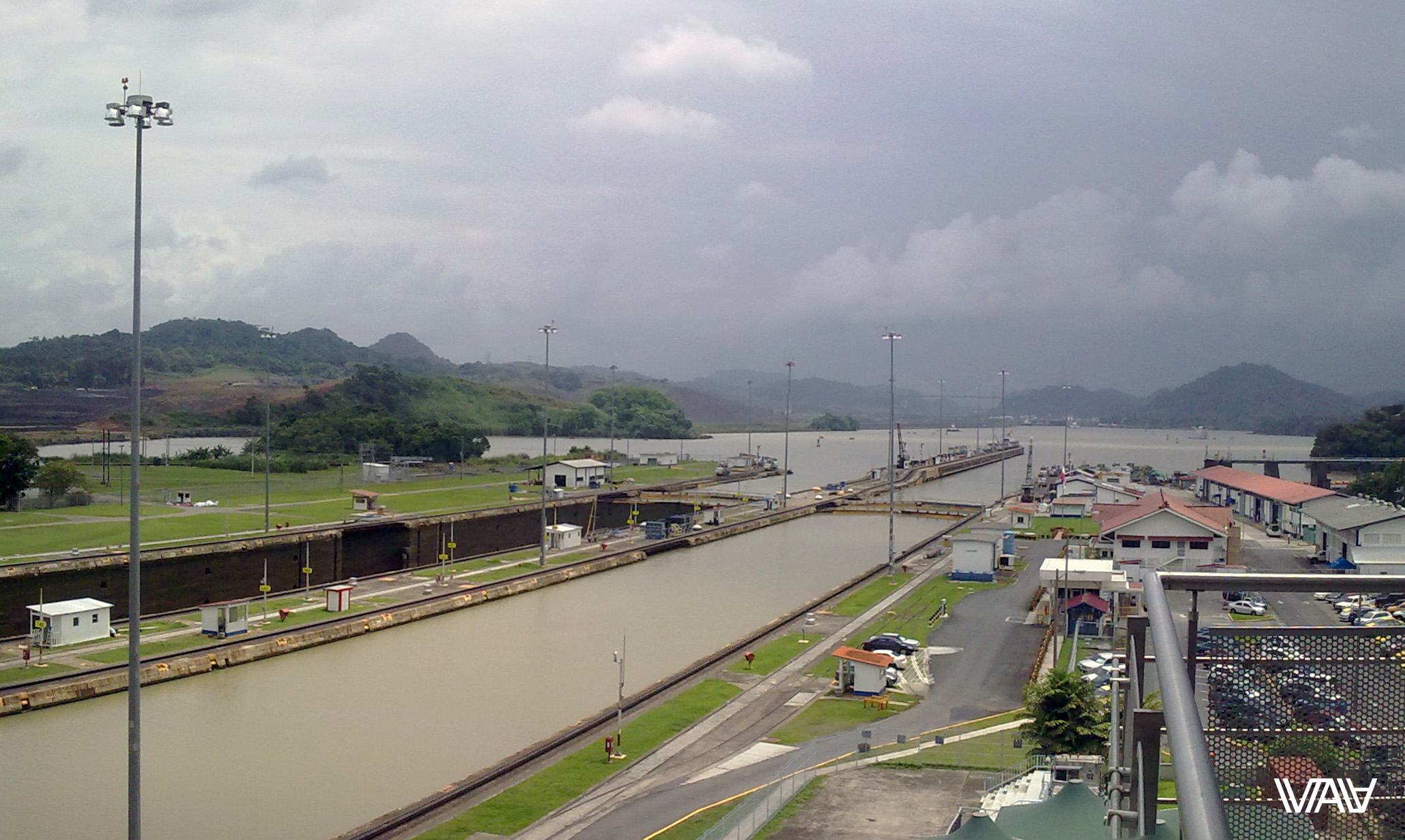 Enter of the Panama Canal from the Atlantic Ocean. Panama Canal, Panama
