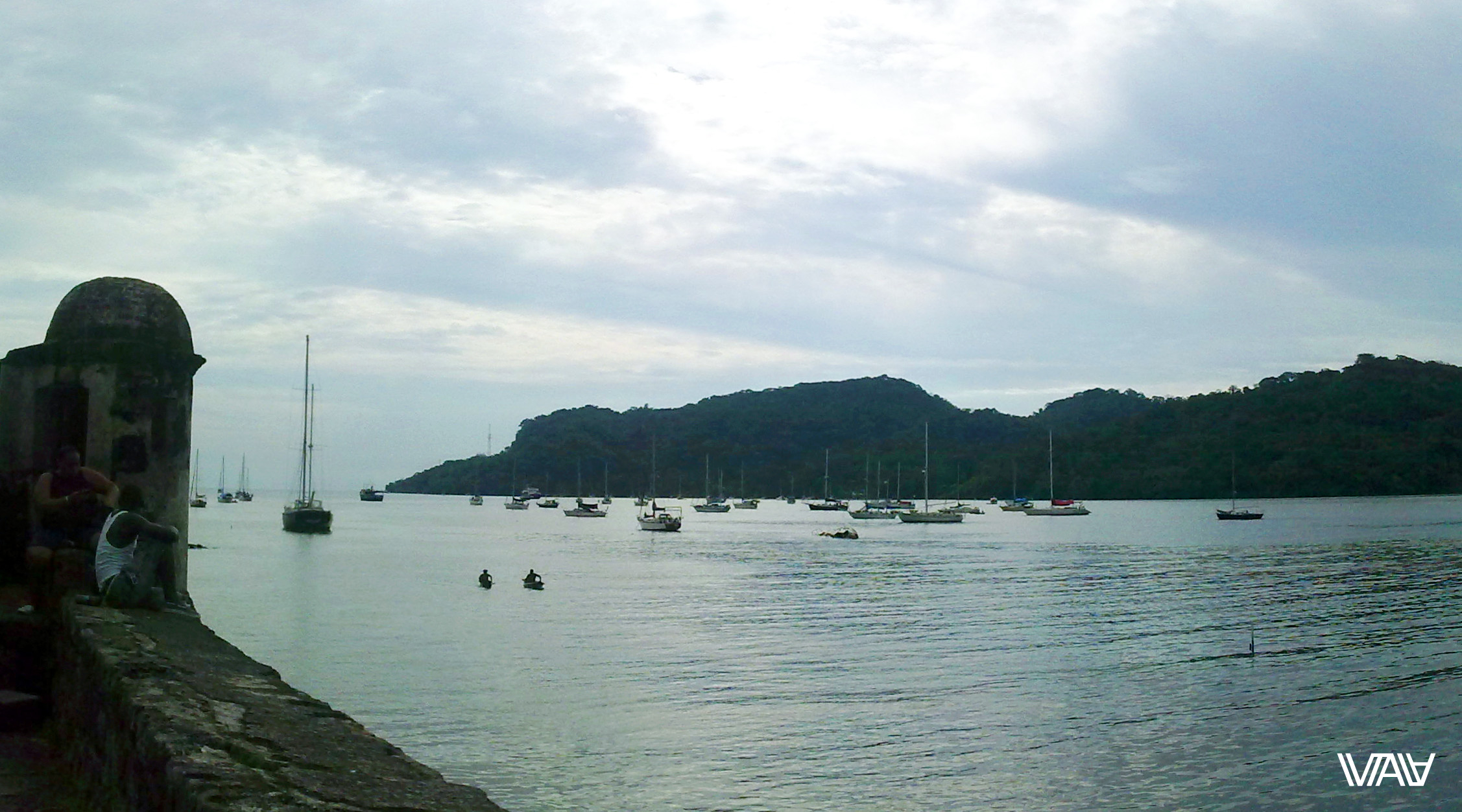 To look at the see with many boats is nice for any native member. Portobelo, Panama