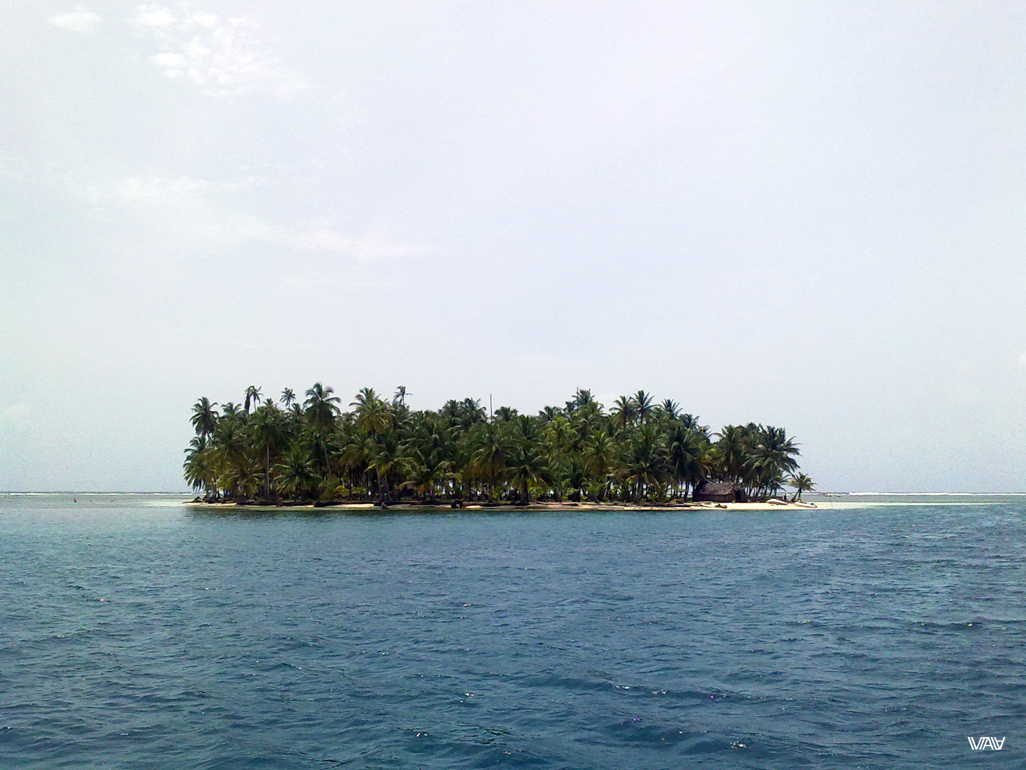 The first island from the San Blas Archipelago. It looks like a picture from travel postcard. Cayos Chichime Island,  San Blas Archipelago, Panama