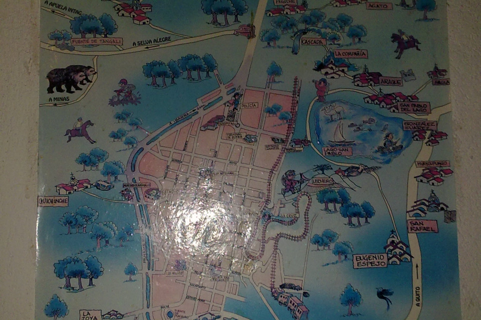 The best tourist maps are looking this way! Otavalo, Ecuador