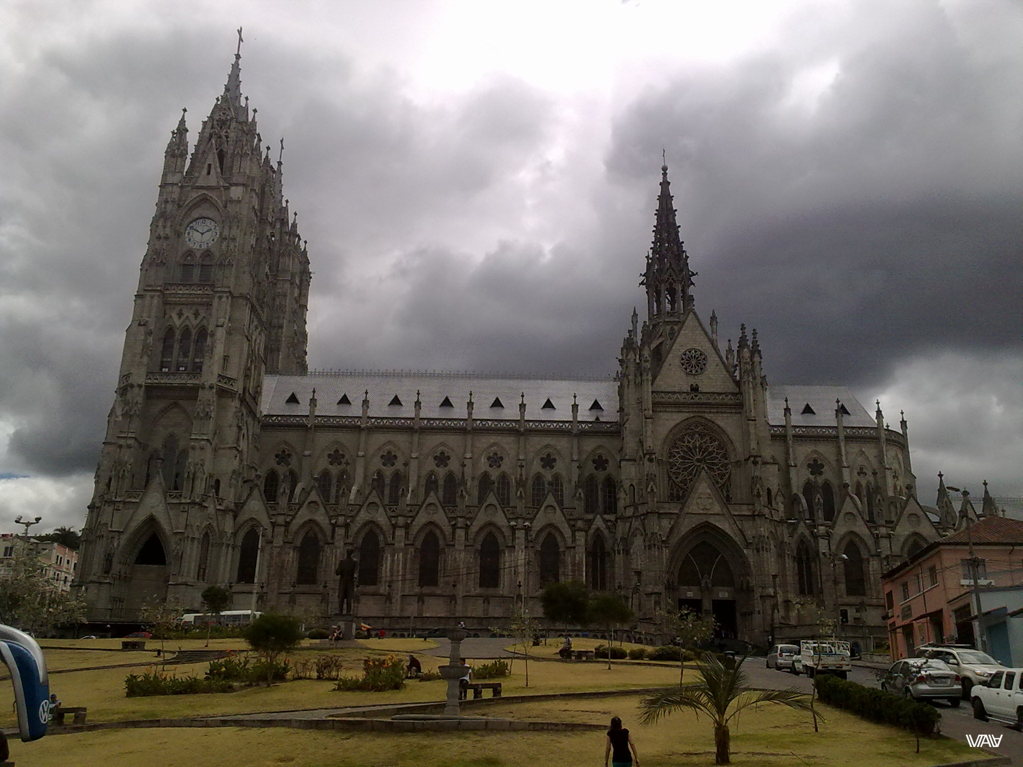 Basílica del Voto Nacional is the one of the main seeing in Quito, Ecuador