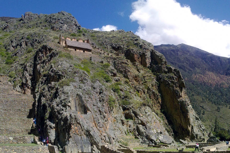 I would not mind to live in a house on the mountain among the mountains. Ollantaytambo, Peru