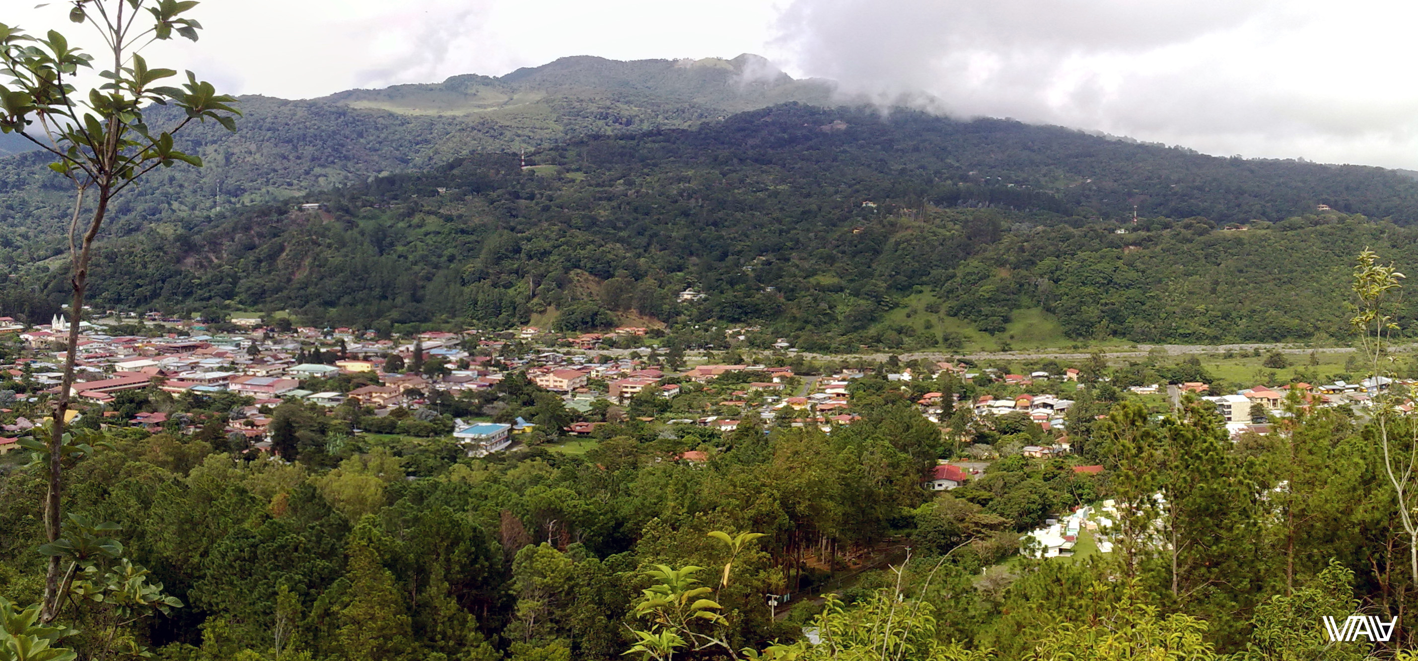 Panorama of small beautiful city. Bajo Boquete, Panama