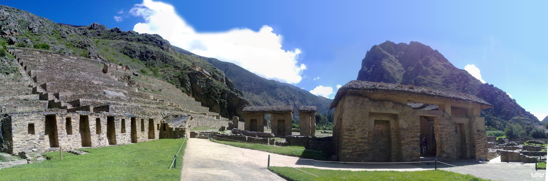 Невероятные террасы и остатки жилищ древних инков. Ойантайтамбо, Перу