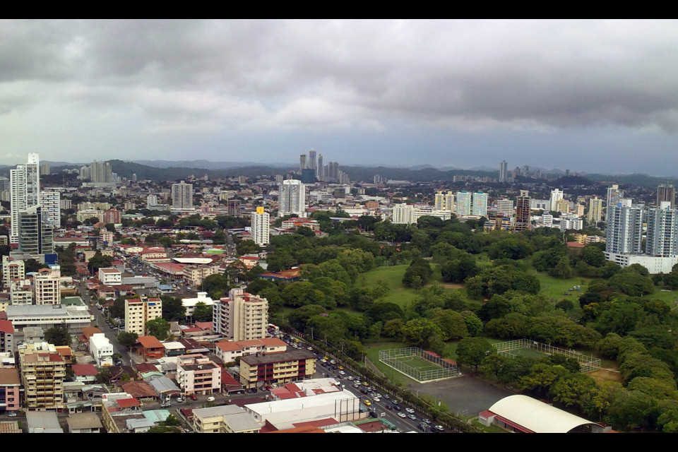 Panoramic view of Panama City good district. Panama City, Panama