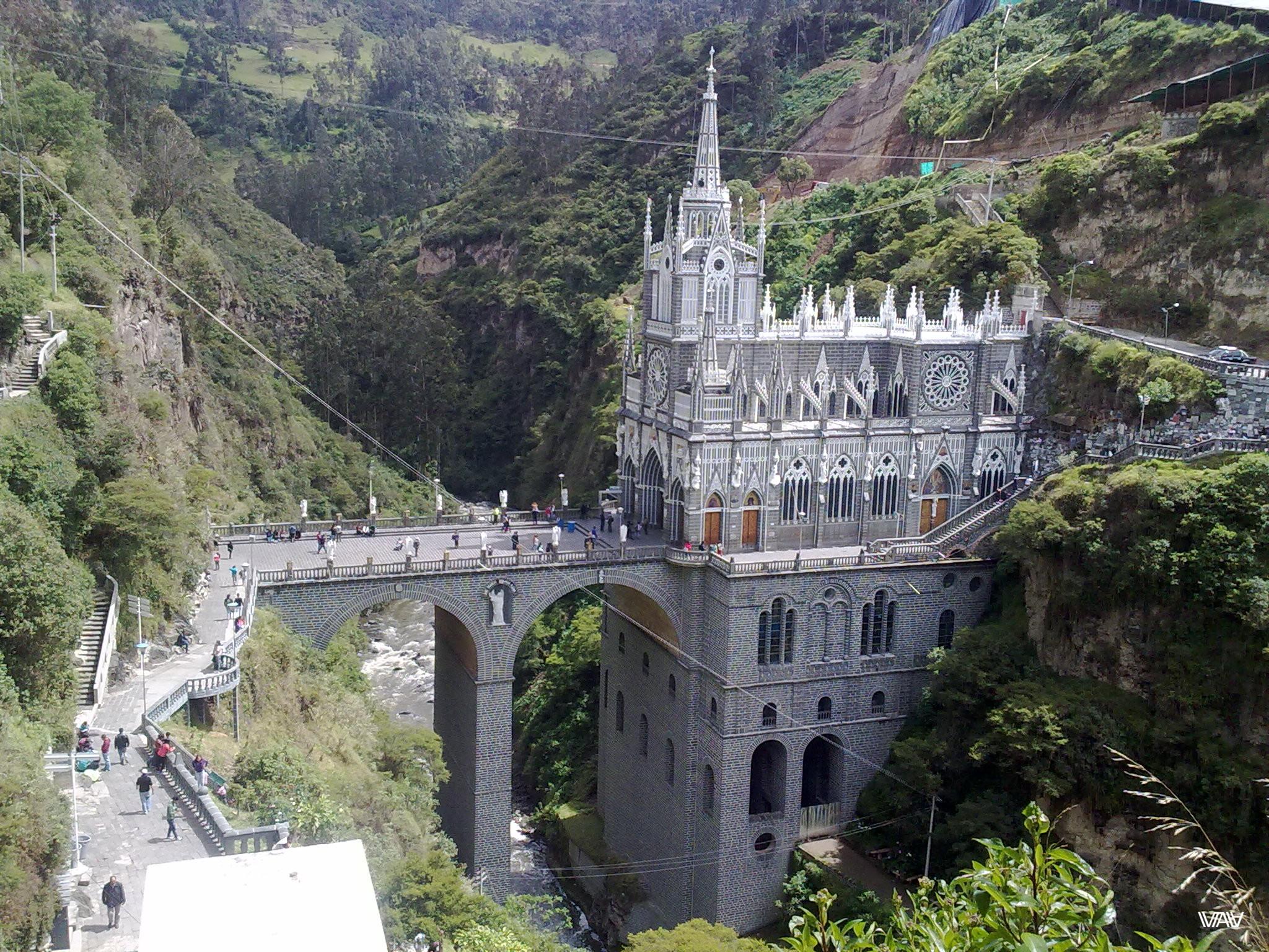 One more view of Santuario De Las Lajas. Ipiales, Colombia
