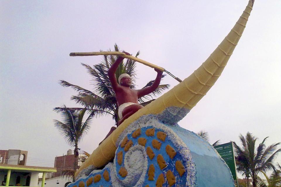 Символ города и всего побережья, даже современного. Трухийо, Перу