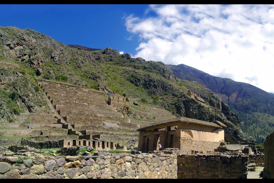 The ancient Incas loved to live not just among the mountains but practically inside them. Ollantaytambo, Peru