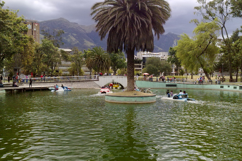 Amazing mini-lake in the centre of the capital. Quito, Ecuador