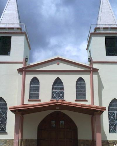 Interesting architecture of the local church. Bajo Boquete, Panama