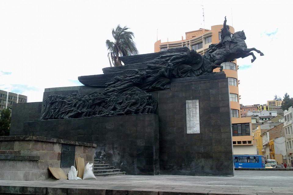 Majestic monument! It is really impressive. Quito, Ecuador