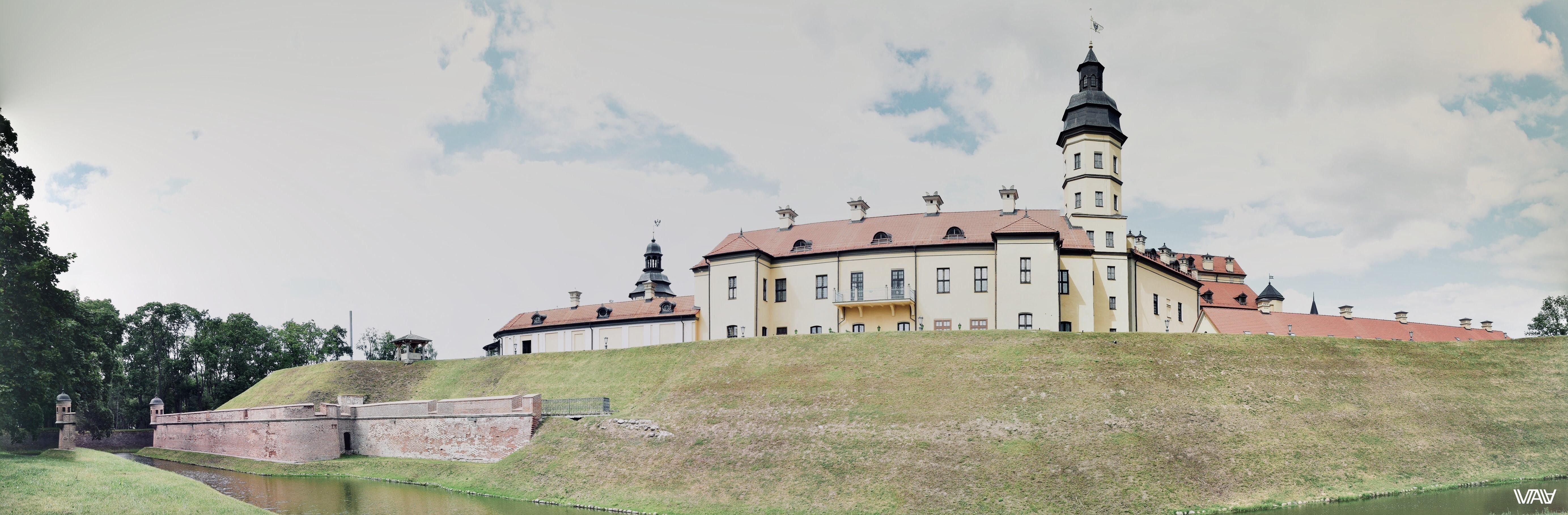 Первая панорама замка. Несвижский замок, Несвиж, Беларусь