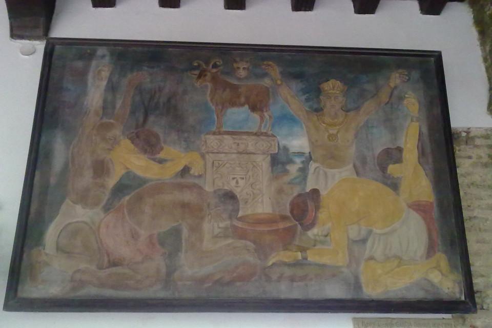Легенда в плоском искусстве. Что-то здесь не так. Трудно без гида :D Монастырь Папы, Картахена, Колумбия