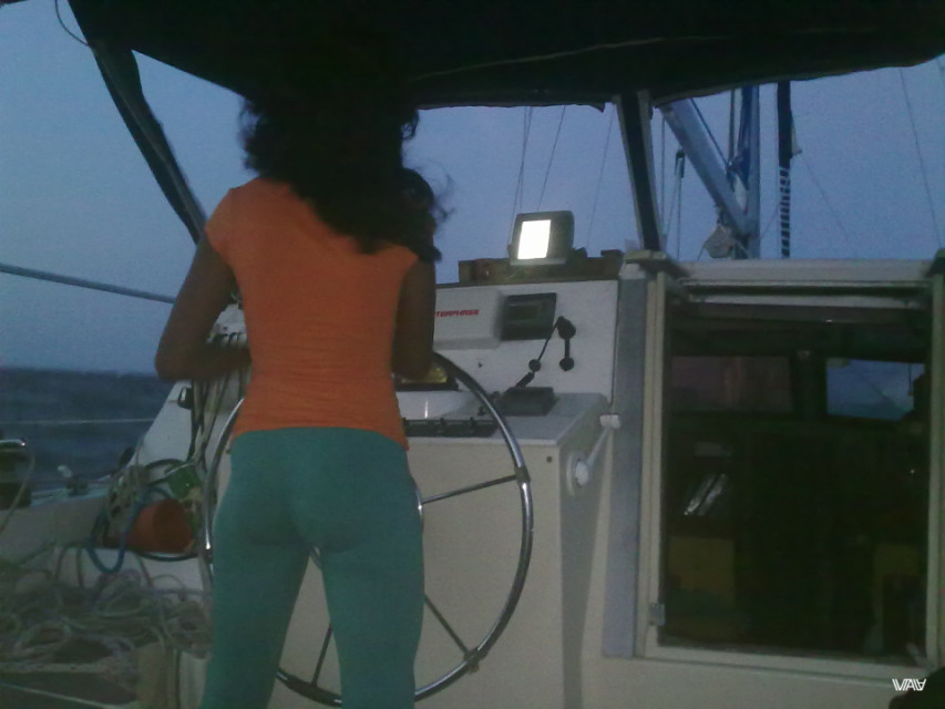 That is great view of Colombian girl Laura :) The Caribbean Sea, between Panama and Colombia