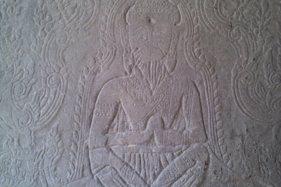 It is interesting to know the man got the hole in his head in antiquity or now? Ta Prohm Temple, Angkor Archaeological Park, Krong Siem Reap, Cambodia