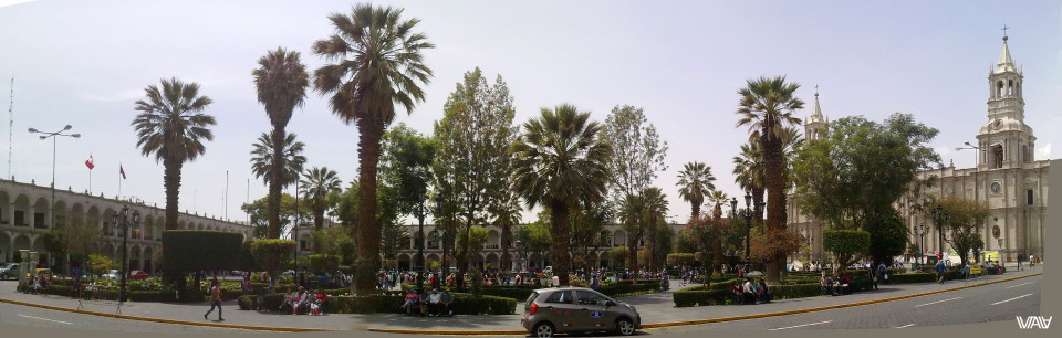 Arequipa is a beautiful Peruvian city with old colonial architecture and young lamas.