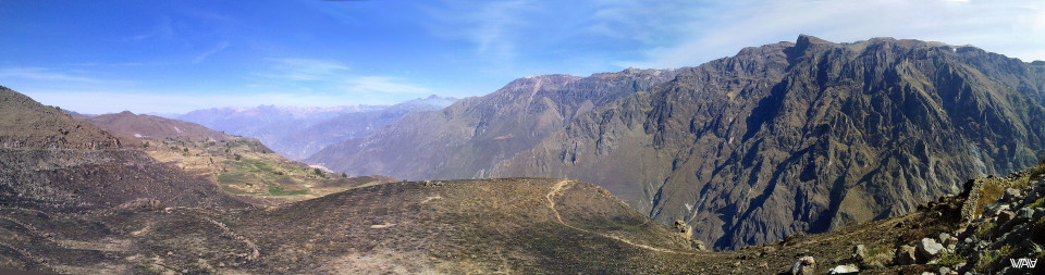 Panoramic view of Colca Canyon. Gorgeous and incredible place. Peru